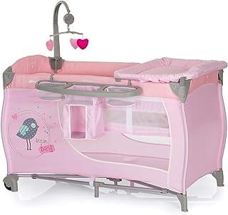comprar comparacion Hauck Babycenter - Cuna de viaje para bebé, incluye elevador para recién nacidos, cambiador, movil, cesta portapañales, ru...