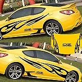 3D Fiamma Totem Decalcomanie Adesivi per auto Full Body Car Styling Vinile Adesivo per dec...