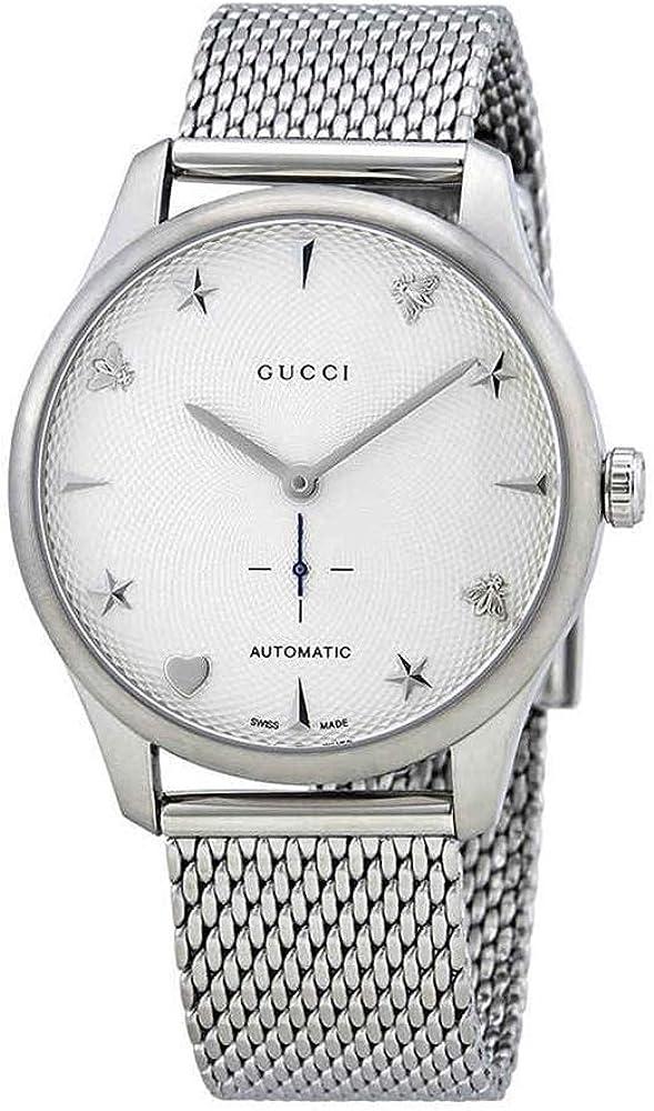 Gucci g-timeless,orologio automatico unisex,in acciaio inossidabile YA126330