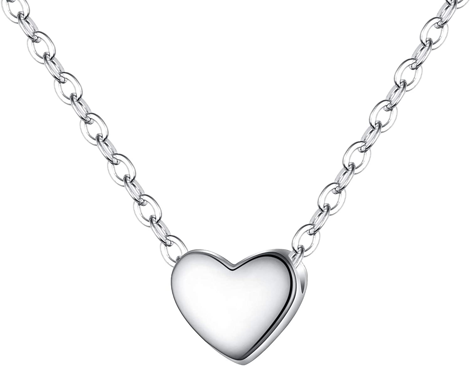 EVER FAITH Jewelry Gift 925 Sterling Silver Tiny Triangle Moon Star Dainty Heart Pendant Choker Necklace for Women