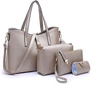 be90a47f5080 YTL Women Fashion Synthetic Leather Handbags+Shoulder Bag+Purse+Card Holder 4pcs  Set