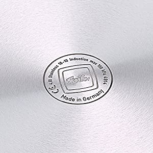 Fissler vitaquick / Induktions-Schnellkochtopf (4,5l, Ø 22 cm) Edelstahl-Dampfkochtopf, 2 Garstufen, stapelbar, alle Herdarten– auch Induktion