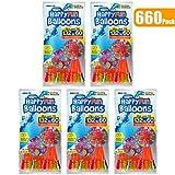 660 Paquete Globos de agua Autosellante Fácil y rápido llenado Bombas de agua Verano Splash Fun Pelea de agua Juego para niños y adultos(660 Pack 5 de bolsa)