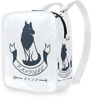 DEZIRO - Mochila de hombro con diseño de lobo