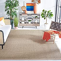 seagrass area rug woven with cotton border