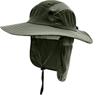 Home Prefer Adult UPF 50+ Sun Protection Cap Wide Brim Fishing Hat with Neck Flap