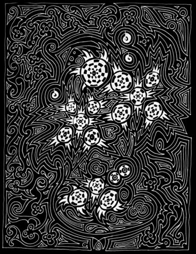 NOTEBOOK: B&W Paisley Alternative Composition Notebook, Black and White Paisley Alternative Design Notebook Journal, College Ruled 120 Pages Lined Paper - Large 8.5 x 11