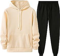 HWZZ heren Hooded Zacht en comfortabel zwaargewicht pullover met capuchon met capuchon (Color : Silver, Size : XS-S)