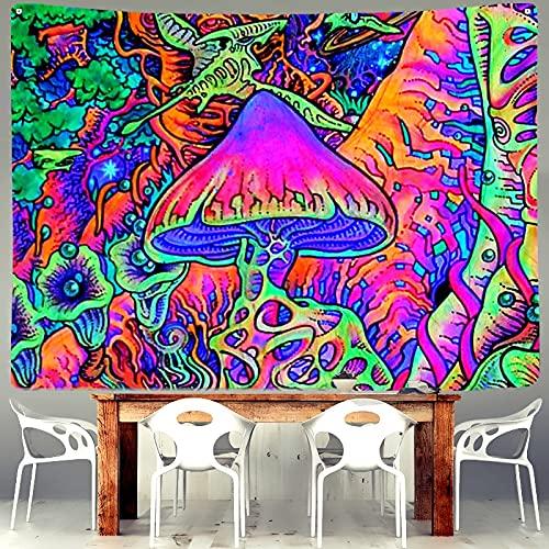 Pintura al óleo psicodélica Tapiz Seta Bohemia Girasol Pulpo Colgante de Pared Sala de Estar Cama Hogar Venta al por Mayor Parcela Post A4 100x150cm