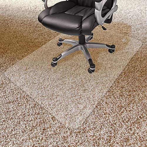 DINGDING Bodenschutzmatte Bürostuhl Transparent PVC Stuhlmatte Für Teppichboden Bodenschutz Für Hochflorteppiche 3 Mm Dick Beschlagene Rückseite,3mm-90x120cm