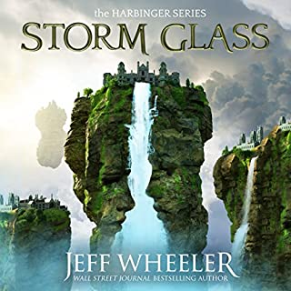 Storm Glass     (Harbinger, Book 1)              Written by:                                                                                                                                 Jeff Wheeler                               Narrated by:                                                                                                                                 Kate Rudd                      Length: 11 hrs and 43 mins     14 ratings     Overall 4.6