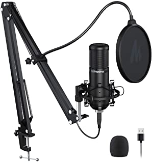 Podcast Microphone 192KHZ/24BIT MAONO PM420 USB Condenser Cardioid PC Mic with Professional Sound Chipset for Gaming, Stre...