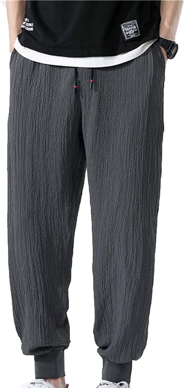 YUNDAN Sweatpants for Mens Plus Size Loose Fit Pants Casual Sports Elastic Waist Long Trousers Lightweight Breathable Pants