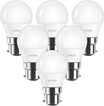 ANWIO G45 LED-lampen, B22 bajonetfitting, 4,5 W warm wit 2700 K, 470 lm gloeilamp niet dimbaar (verpakking van 6)