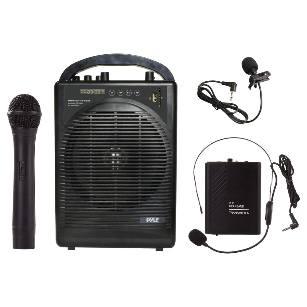 Pyle Amplifier Microphone Bluetooth Rechargeable