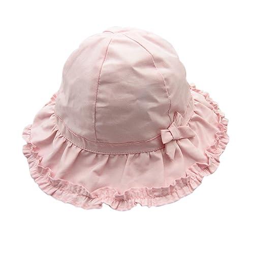 Sumolux Bonnet Chapeau de Soleil Chapeau de Plage Anti UV en Coton Rose  Mignon Pour Enfant 4ee5a243a77