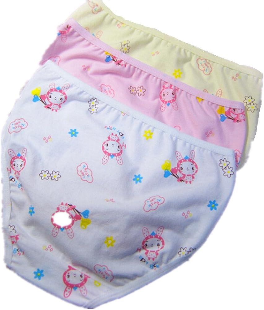 ADIASEN Big Girls' Cute 3 Packs Cotton Underwear Briefs Hipster Mixed Color (Height:130cm)