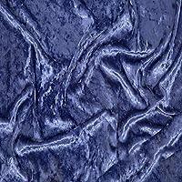 ベロア 生地 刺繍 手芸 ハンドメイド 布地 DIY 幅1.6m メーターで販売(Color:アズールブルー)