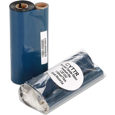 "CYTTR 4.33"" x 244' Thermal Transfer Ribbon - 1 Roll. Resin Enhanced Wax 1/2 Inch Core Ink Out for Zebra Eltron Datamax Zebra GC420t GK420t GX420t TLP2442 TLP2844"