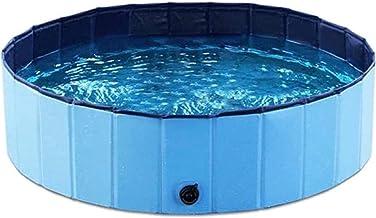 Piscina inflable, piscina plegable para perros, piscina de PVC duradera, bandeja de ducha portátil plegable de 30 cm, piscina remo, portátil (color 16030 cm)