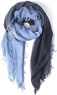 Chan Luu Dip Dyed Cashmere and Silk Scarf (Stonewash-Blue Knights)
