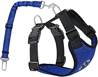 AUTOWT Dog Safety Vest Harness, Pet Car Harness Dog Safety Seatbelt Breathable Mesh Fabric Vest with Adjustable Strap for ...