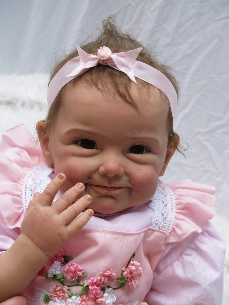 22 Inch Realistic Reborn Baby Dolls Finally resale start Limited time sale Weighted Body Vinyl Sil Girl