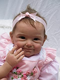 "Reborn Baby Dolls Girl 22\"" Reborn Dolls Realistic Newborn Soft Silicone Vinyl Handmade Weighted Baby Doll"