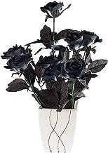 fake black roses halloween