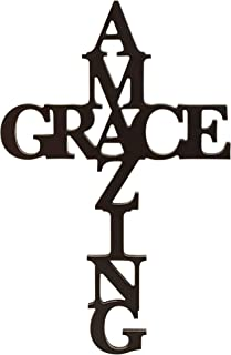 P. Graham Dunn Amazing Grace Cross Black 24 x 12 Wood Cutout Wall Word