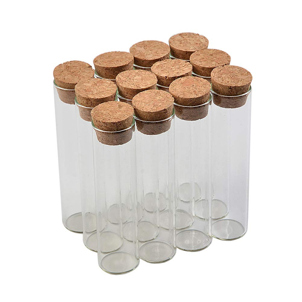 22120mm 30ml Empty High quality new Glass Albuquerque Mall Transparent Clear with Sto Cork Bottles
