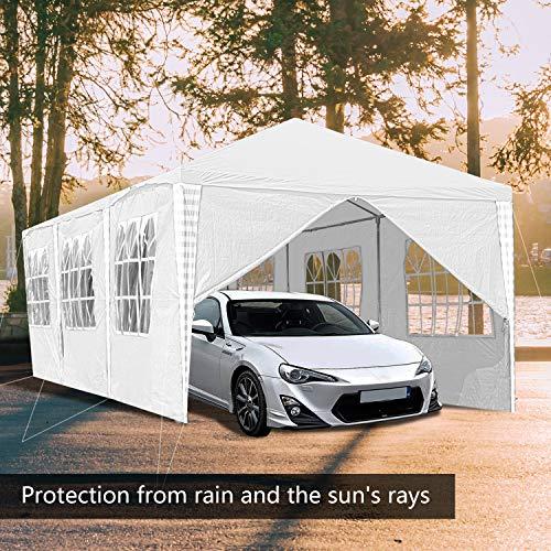Hengda 3x6m Pavillon Partyzelt UV-Schutz Hochwertiges GartenPavillon Wasserdicht mit 6 Seitenteilen für Hochzeit Party Camping - 4