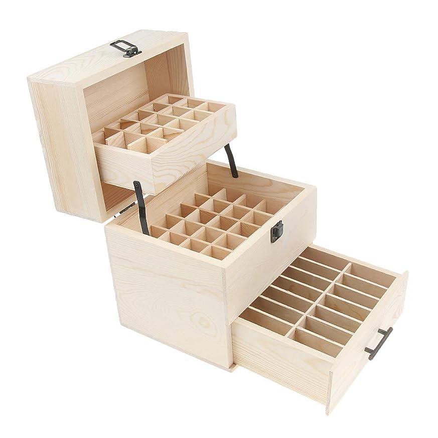 逆説意気消沈したリールBaoblaze 3層 エッセンシャルオイル 木製箱 オーガナイザー コスメ収納 香水 精油 ジュエリー