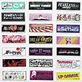 60Pcs Japanese Decal Lolicon Hentai Anime Car Stickers Funny JDM Drift Car Stickers Cute Cartoon Decals 2.7'x 1'