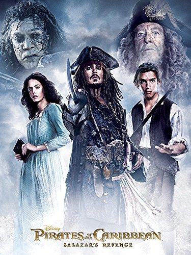 Lienzo de Piratas del Caribe: la venganza de Salazar, 60x 80cm.