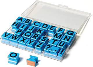 "Educational Insights Alphabet Rubber Stamps Uppercase, 5/8"", Ages 4 and Up, (30 Pieces - 26 Letters and 4 Punctuation Marks)"