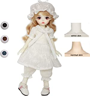 HWOEK Ball Jointed Doll, 26CM Princess DIY Dress Up Change Makeup Toy, Female Figure Body,3D Real Eyes, Anime Girl Doll Ac...