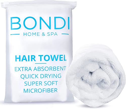 Bondi Home & Spa Microfibre Hair Towel Wrap for Women – Super Absorbent, Fast Drying, Large & Soft, Perfect for Long ...