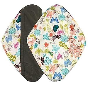 Menstrual Pad,Sainagce Reusable Bamboo Lovely Pattern Printed Cloth Washable Comfortable Menstrual Pad Mama Sanitary Towel Pad Better for the Environment