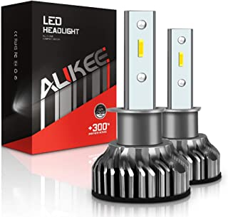 Aukee H1 LED Headlight Bulbs, 50W 10000 Lumens Extremely Bright 6000K CSP Chips Conversion Kit