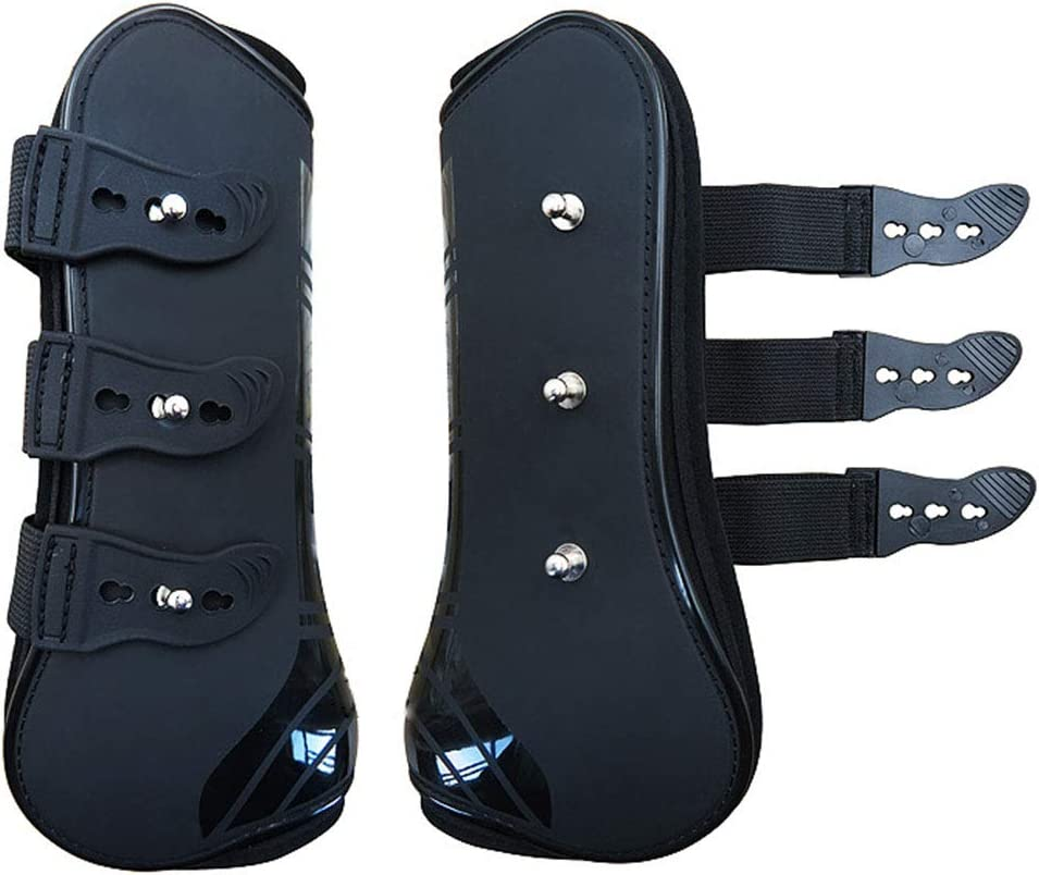 Alomejor 1 Pair Horse Support Boots Adjustable Horse Splint Leg Boot Protection Support