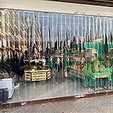 Cortinas de tiras enrollables de PVC, cortinas de plástico transparente para aislamiento térmico y a prueba de polvo, para uso en interiores y exteriores personalizables/A / 120 * 220cm