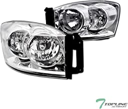 Topline Autopart Chrome Clear Housing Headlights Signal...