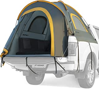 JoyTutus Pickup Truck Tent Waterproof PU2000mm Double Layer for 2Person Portable Truck Bed Tent 5.5'-6' Camping Preferred