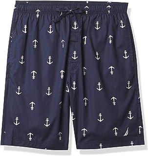 Nautica Unisex's Men's Sueded Knit Anchor Print Pajama Short Bottom