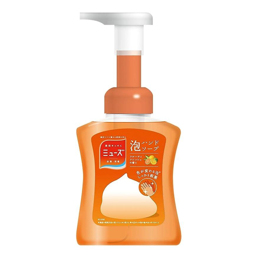 金貸し代表して小川【医薬部外品】ミューズ 泡 ハンドソープ フルーティフレッシュの香り 色が変わる泡 本体ボトル 250ml 殺菌 消毒 手洗い 保湿成分配合