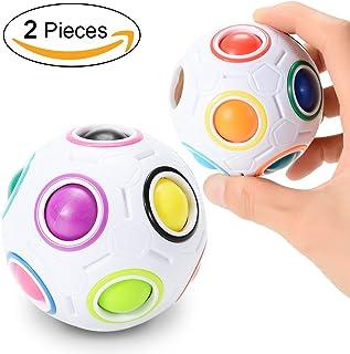 RaiFu パズルボール マジック レインボー スピード キューブ 減圧おもちゃ 知育玩具 2個セット