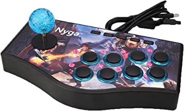 AOLUNO Wired Arcade Street Joystick Gamepads Fighting Stick USB Game Controller for PS2 PS3 PC