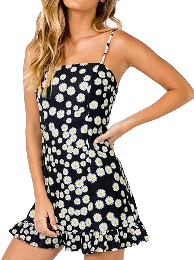 Fresh as a Daisy 1950/'s Applique Cocktail Party Dress S