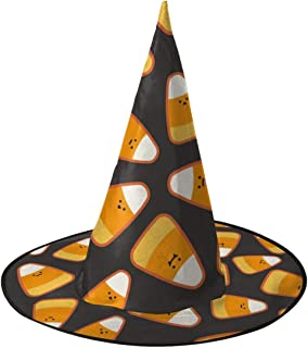 Candy Corn Kawaii Halloween Witch Hat Witch Costume Accessory Cosplay For Halloween Christmas Party